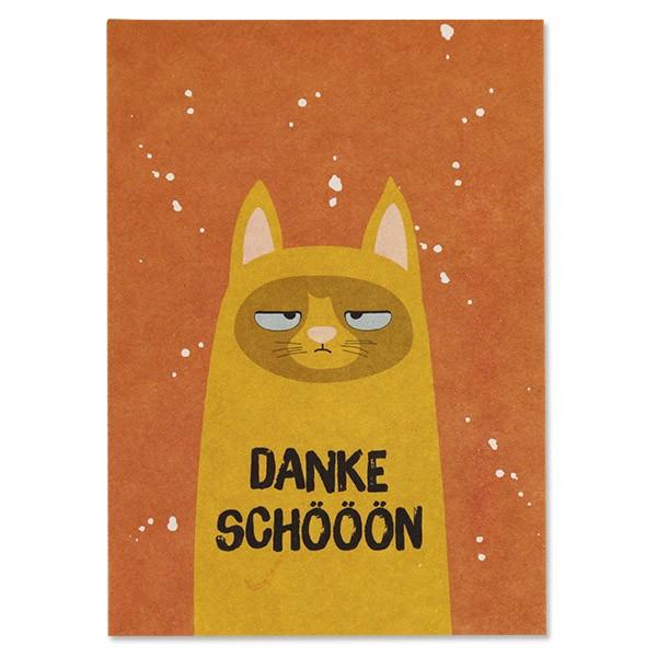 """Postkarte """"Katze - Dankeschööön"""""""