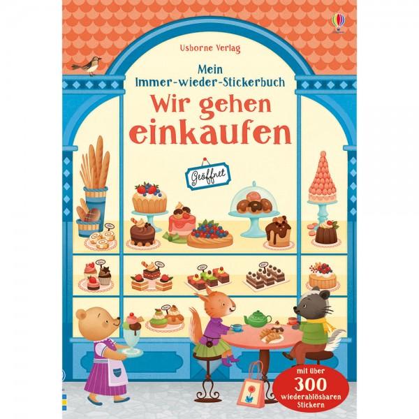 """Mein Immer-wieder-Stickerbuch """"Wir gehen einkaufen"""""""