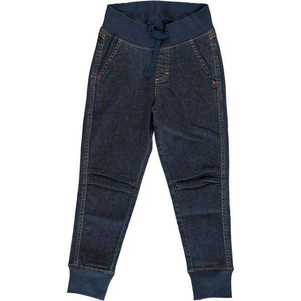 Jeans-Hose mit Bündchen dark wash