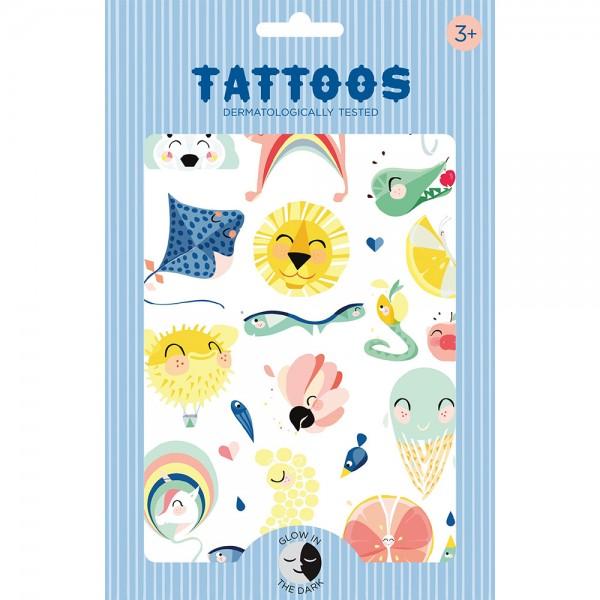"Tattoos Glow-in-the-Dark ""Shiny Lion"""