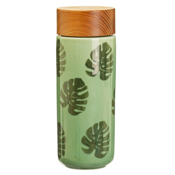 "Keramik-Trinkflasche ""Blätter"" 220 ml"