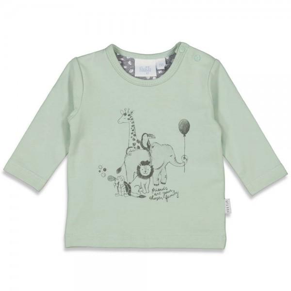 "Bio Baby-Shirt ""Animal Friends"" minzgrün"