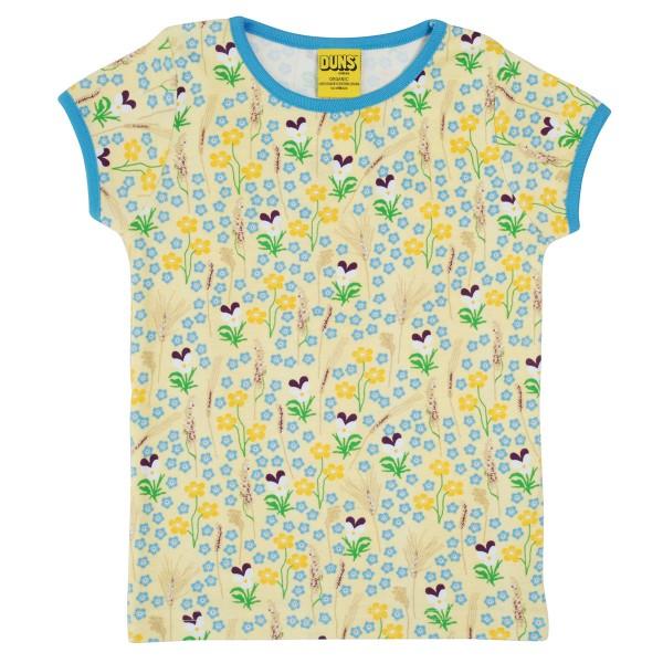 "Kurzarm-Shirt ""Sommerwiese"" pastell-gelb"
