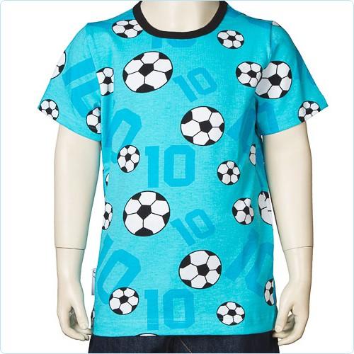 "Kurzarm-Shirt blau ""Fußball"""