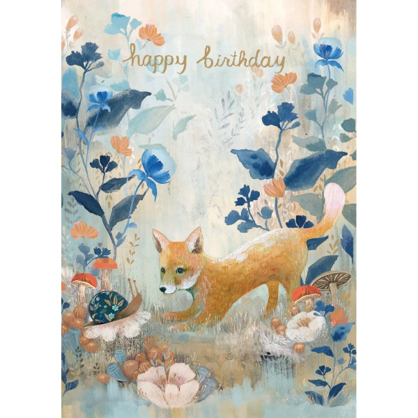 "Klappkarte ""Dreamland Birthday Fox"""