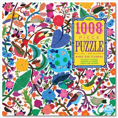 """Puzzle 1008 Teile """"Vögel und Blumen"""""""