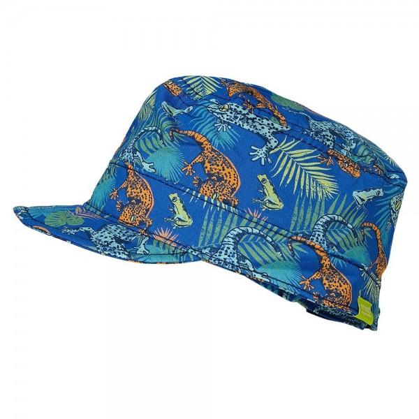 """Cap """"Dschungel"""" blau"""