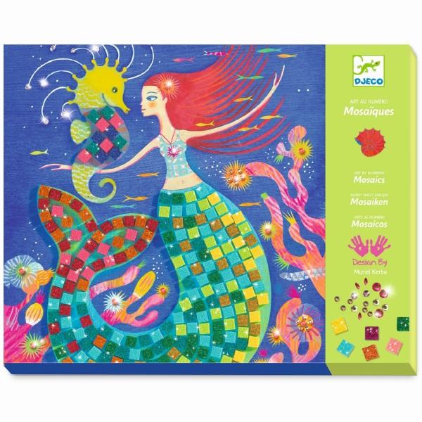 """Glitzer-Mosaik-Bastelset 4 Bilder """"Der Gesang der Meerjungfrauen"""""""