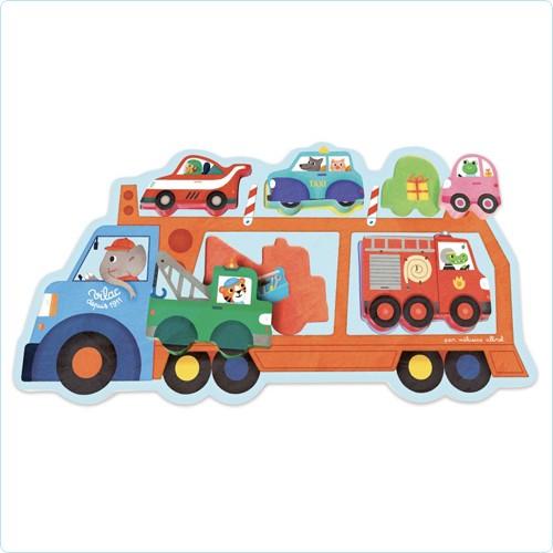 """Einlege-Puzzle """"Autotransporter"""""""