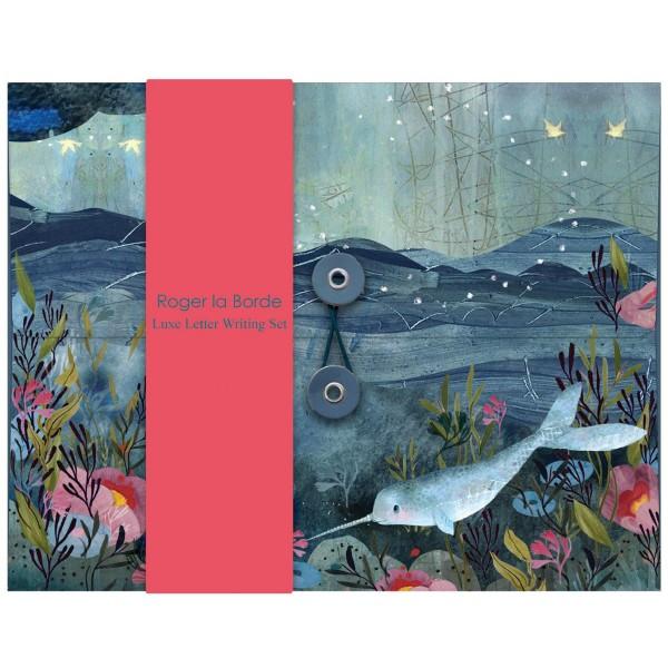 "Briefpapier-Set ""Sea Dreams Narwhal"""