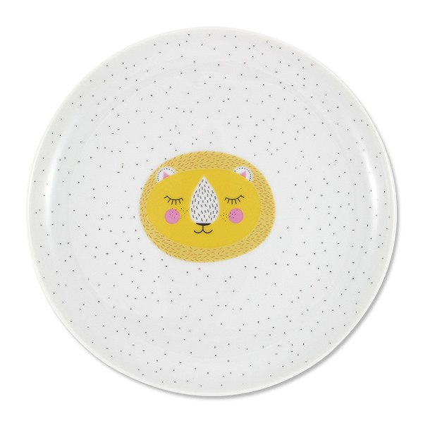 "Porzellan-Teller ""Löwe"" 20 cm"