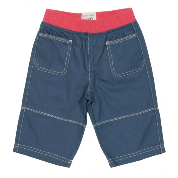 "3/4-Twill-Shorts ""Zig Zag"" blau"
