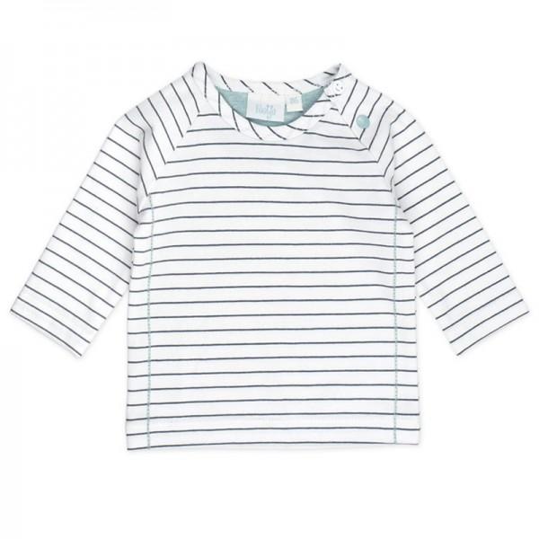 """Bio Baby-Shirt """"Ringel"""" marine/weiß"""
