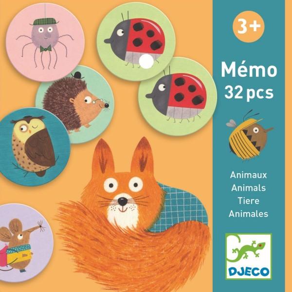 """Memo """"Tiere"""" 32 runde Karten"""