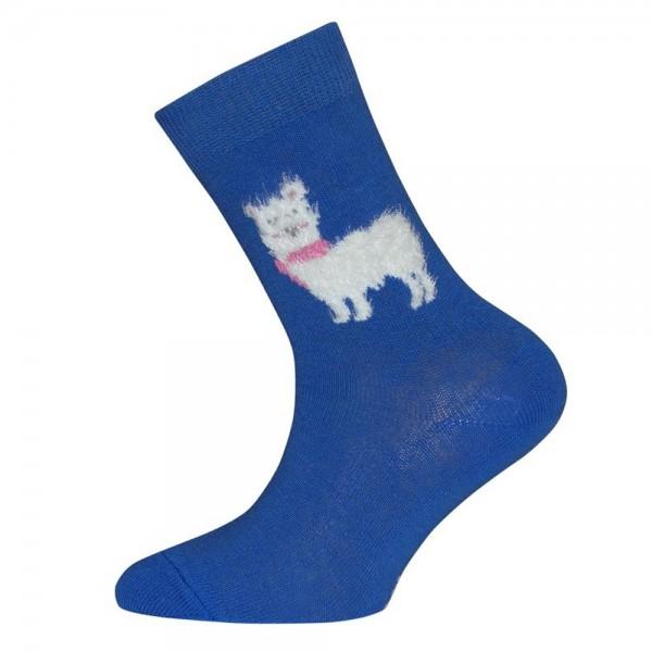 """Socken """"Bouclé-Lama"""" aqua blau"""