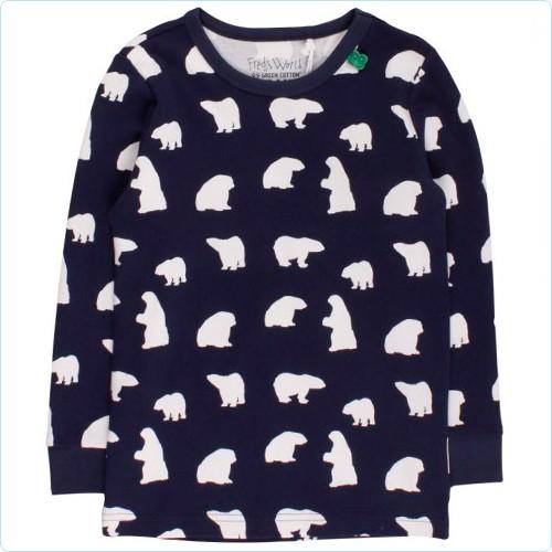 """Shirt KIDS """"Eisbären Allover"""" navy"""