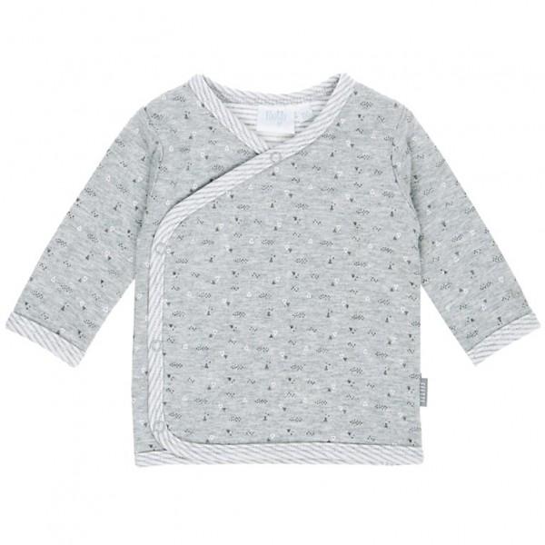 """Baby-Wickel-Shirt """"Hugs & Kisses"""" grau melange"""