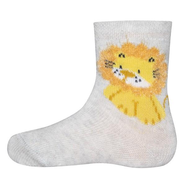 """Socken """"Löwe"""" hellgrau melange"""