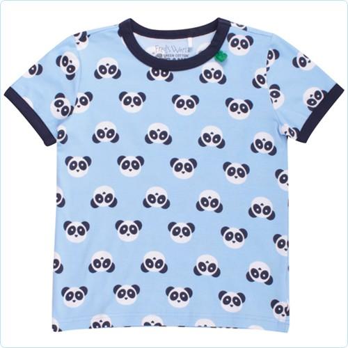 """Kurzarm-Shirt KIDS """"Pandabären Allover"""" hellblau"""