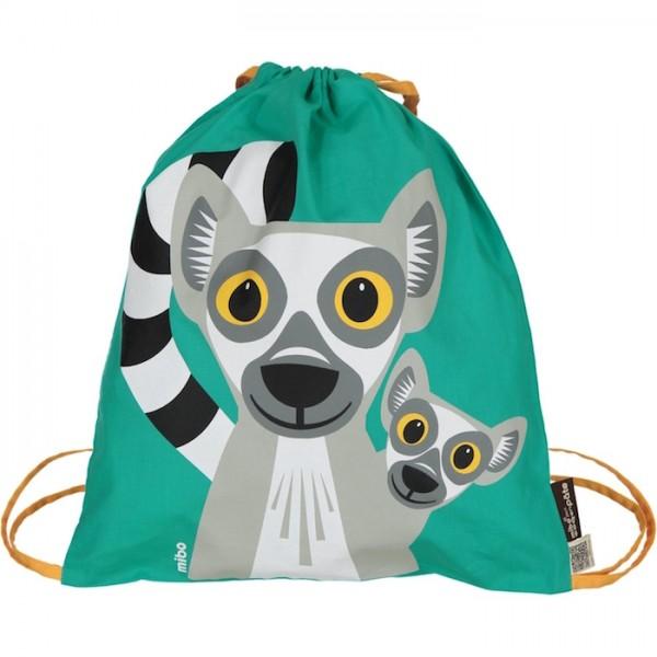 """Turnbeutel/Wäschebeutel Mibo """"Lemur"""" grün"""