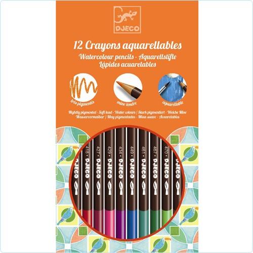 "12 Buntstifte ""Aquarell"" wasservermalbar"
