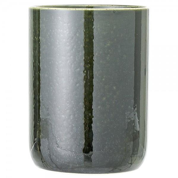 Keramik-Vase/Aufbewahrung grün H 16 cm