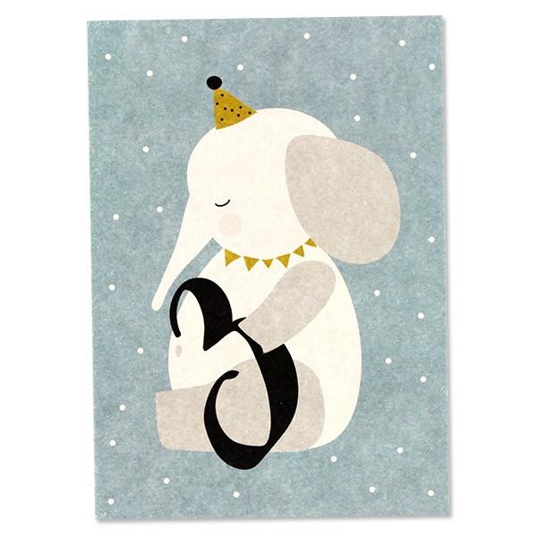 """Postkarte """"3 - Elefant"""""""