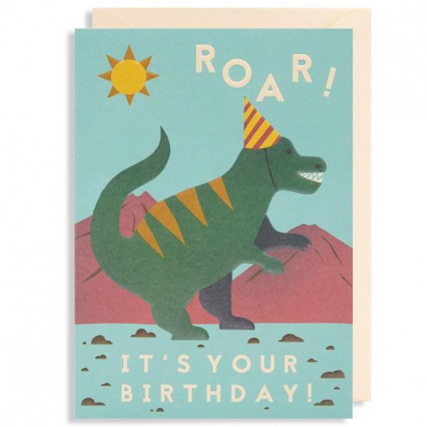 Lagom Design Naomi Wilkinson Grußarte Roar! It's Your Birthday