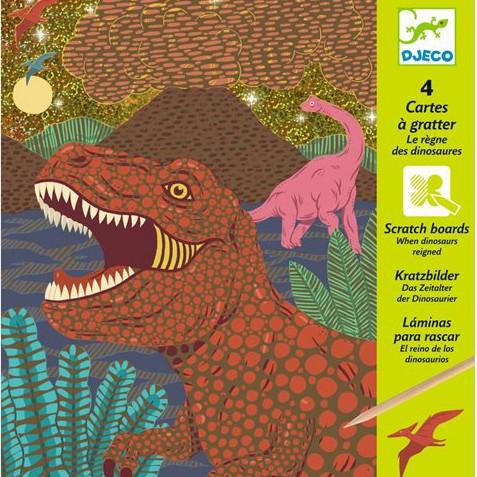 """Kratzbilder """"Dinosaurier"""" Metallic"""