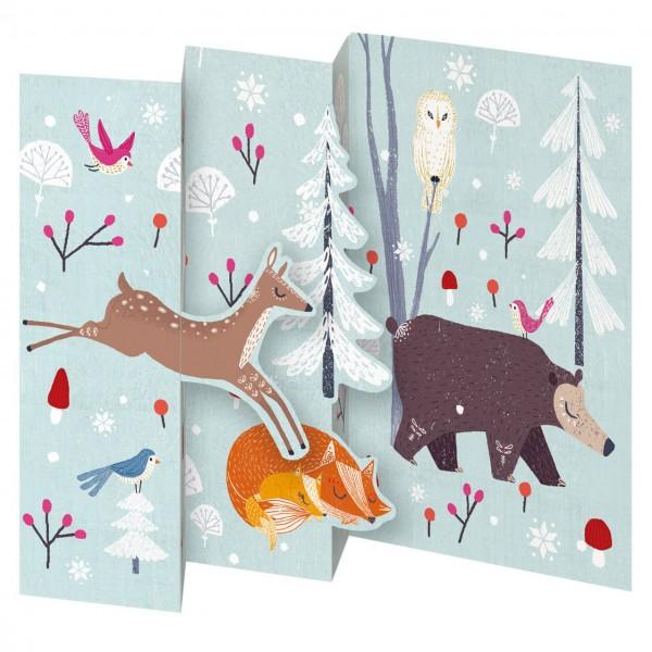 "Lose Tri-Fold-Karte ""Frosty Forest"""