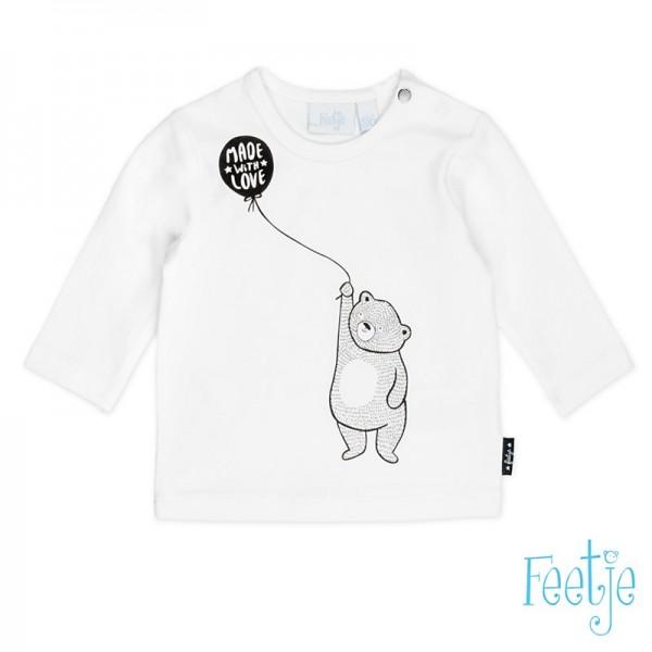 "Baby-Shirt ""Bär - Made with Love"" weiß"