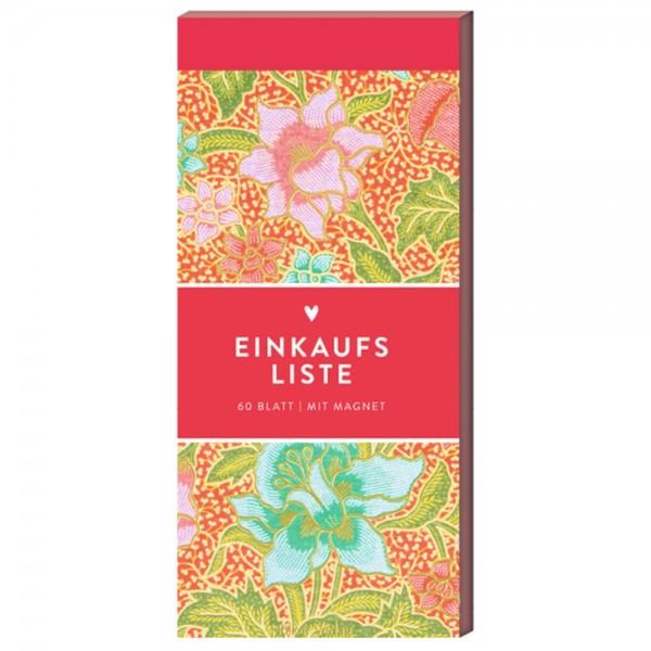"""Einkaufsliste/To-Do-Block """"Pinke Blumen"""" Küchenpapeterie"""