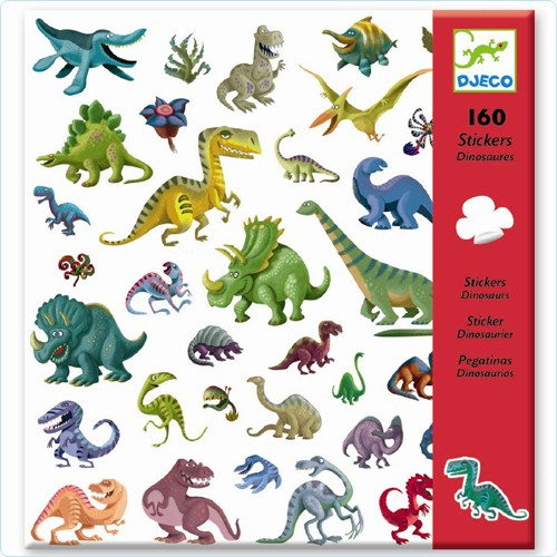 """160 Sticker/Aufkleber """"Dinosaurier"""""""