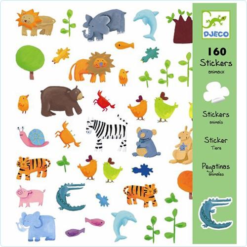"""160 Sticker/Aufkleber """"Tiere"""""""