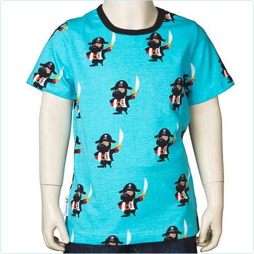 "Kurzarm-Shirt blau ""Piraten"""