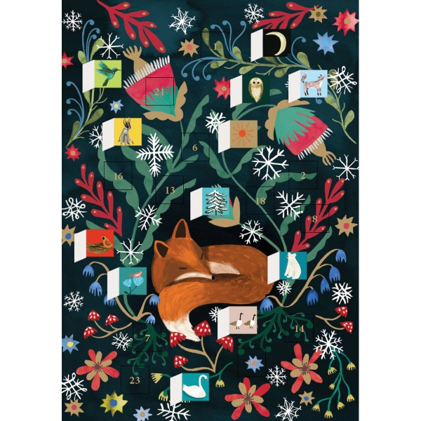 "Adventskalender ""Sleepy Fox"" 38x27"