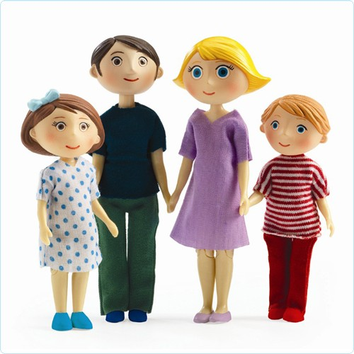 "Puppenhaus-Figuren ""Familie Gaspard & Romy"""