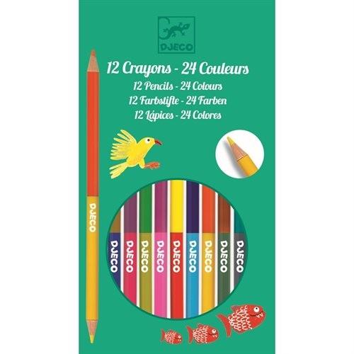 12 Doppelmaler Buntstifte