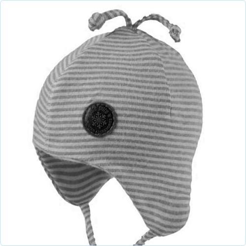 Baby-Jerseymütze Ringel grau