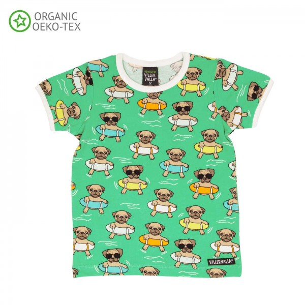 "Kurzarm-Shirt ""Swimming Dogs"" pear"