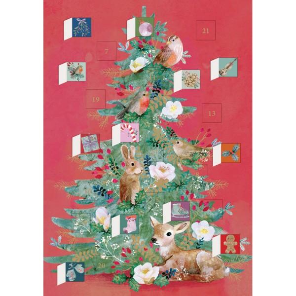 """Adventskalender-Klappkarte """"Floral Woodland Tree"""""""