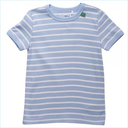 "Kurzarm-Shirt MINI ""Streifen hellblau"""