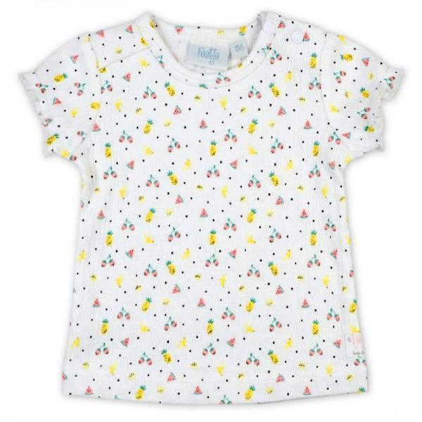 """Bio Baby-Kurzarm-Shirt """"Kleine Früchte"""" weiß"""