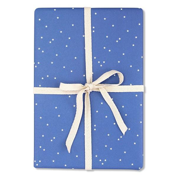 """Geschenkpapier """"Sternchen"""" blau"""