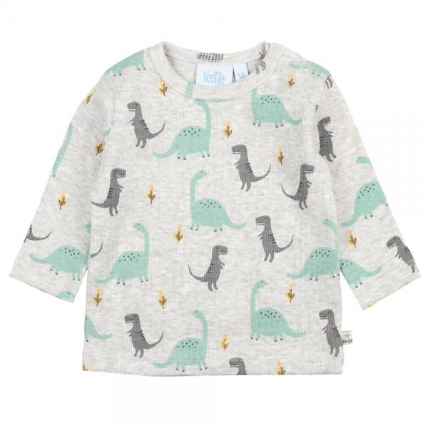 "Bio Baby-Shirt ""Dino"" grau melange"