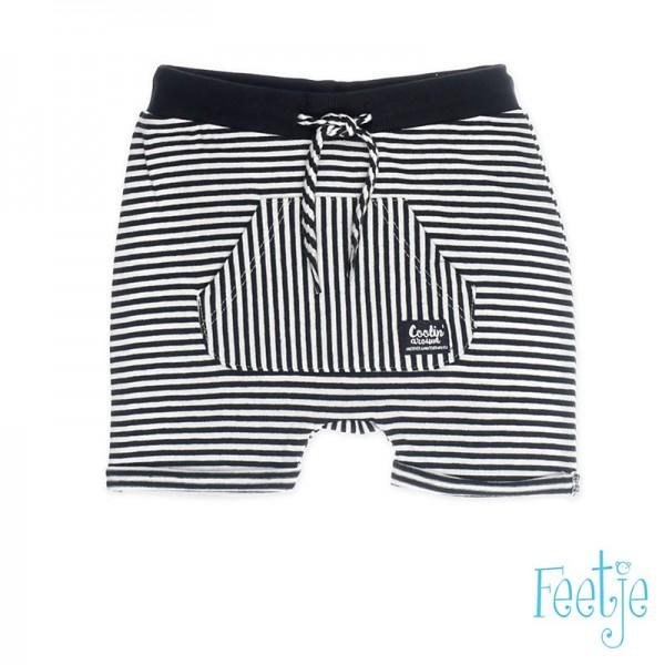 """Baby-Shorts """"Ringel"""" schwarz/weiß"""