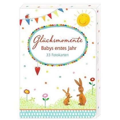 """33 Fotokarten """"Glücksmomente"""" Babys erstes Jahr"""
