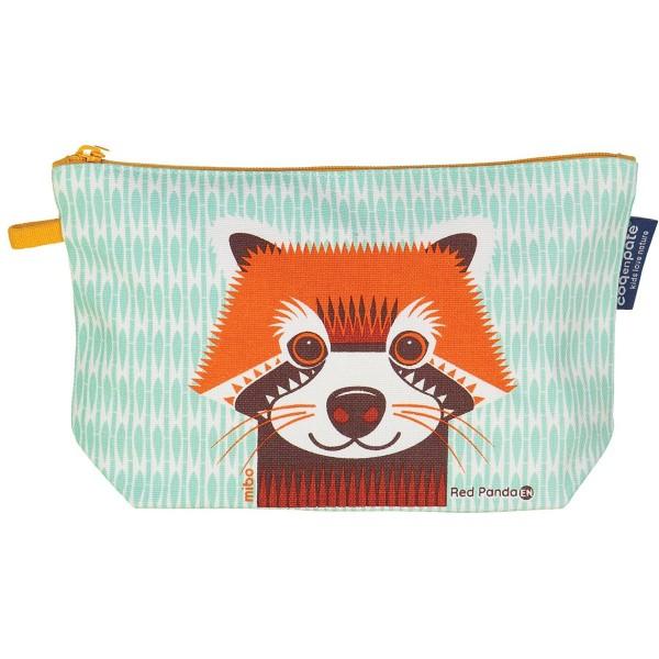 "Kulturtasche/Etui Mibo ""Roter Panda"" mint"