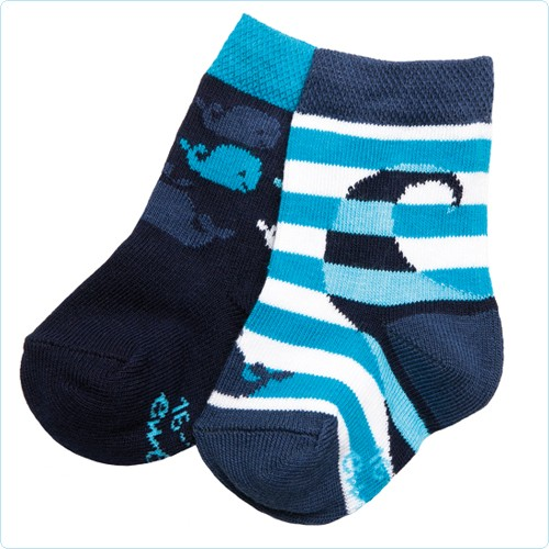 "2er-Pack Socken ""Wale"" hellblau/dunkelblau"