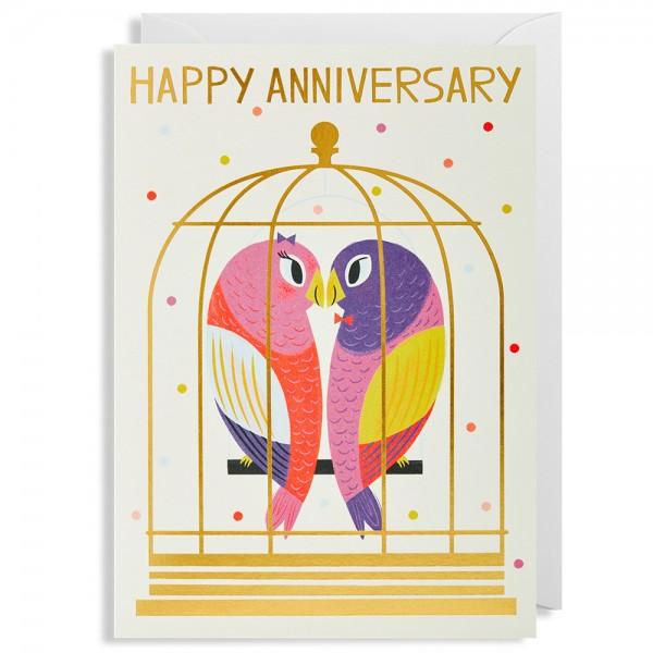 "Klappkarte Allison Black ""Happy Anniversary"""